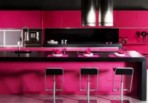 Cocinas con granito y m rmol - Cocinas de color rosa ...