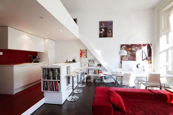 Cocinas abiertas al living for Cocinas para apartamentos pequenos