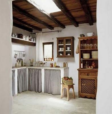 Las cocinas de estilo r stico - Cortinas de cocina rustica ...