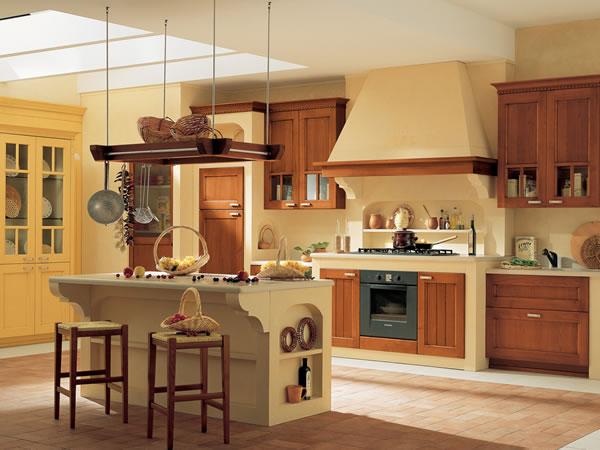 Las cocinas de estilo r stico for Cocinas para casas de campo