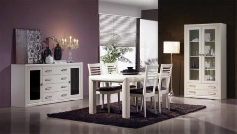 Comedores sencillos y con estilo for Comedores modernos color blanco