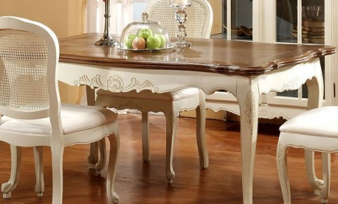 Comedores sencillos y con estilo - Mesa cocina vintage ...