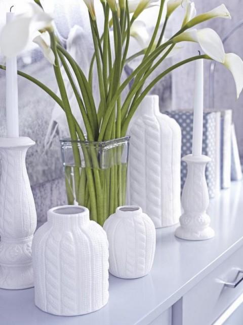 Ideas para decorar con objetos blancos for Objetos de decoracion para el hogar