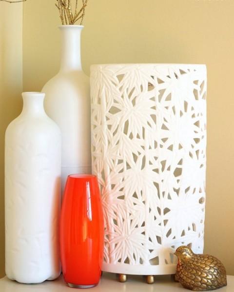 Ideas para decorar con objetos blancos010