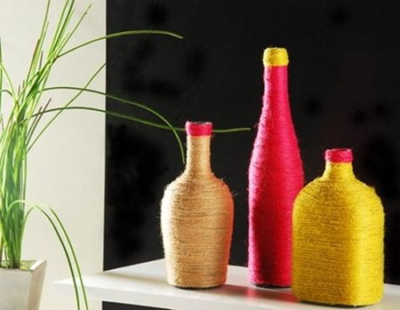 Ideas para decorar con viejas botellas 05
