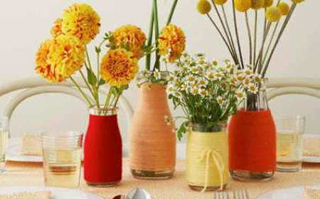 Ideas para decorar con viejas botellas 06