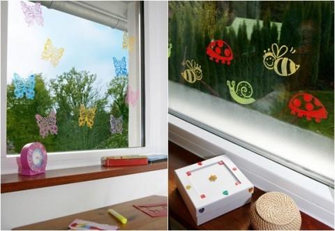 Decora las ventanas con vinilos y pinturas - Vinilos decorativos para pared infantiles ...