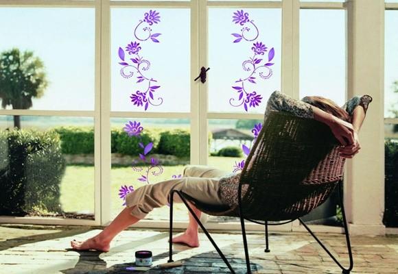 Decora las ventanas con vinilos y pinturas - Vinilos cristales ventanas ...
