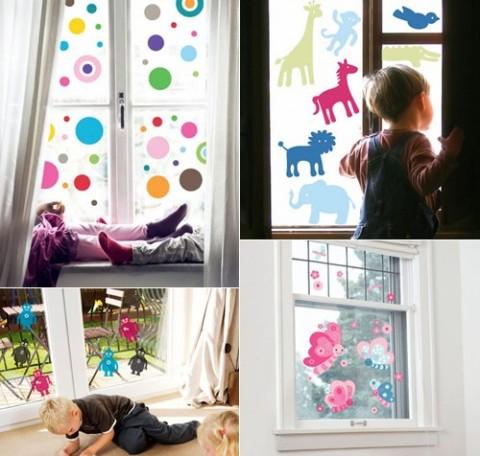 Decora las ventanas con vinilos y pinturas - Decorar dibujos infantiles ...