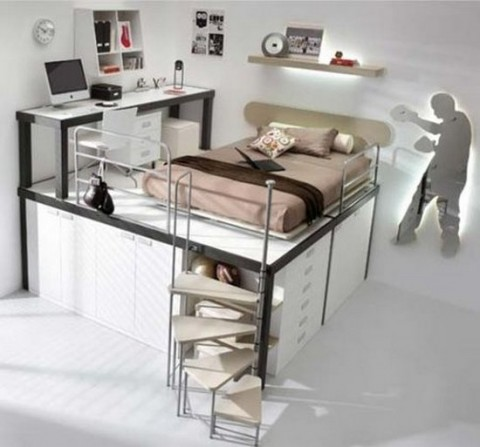 Consejos para aprovechar el espacio en dormitorios - Aprovechar espacio habitacion pequena ...