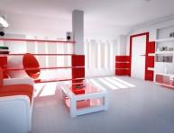 imagen Interiores en blanco y con una nota de color