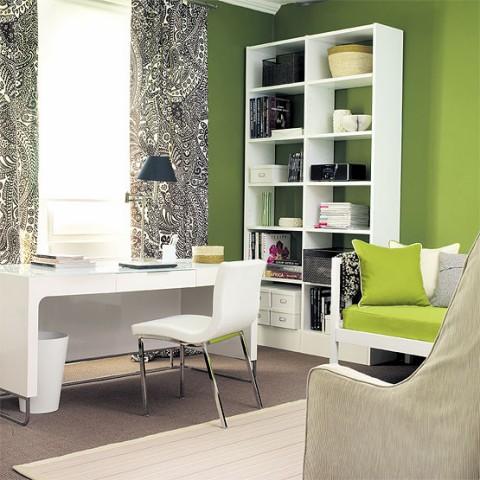 Verde pistacho para una oficina en casa01