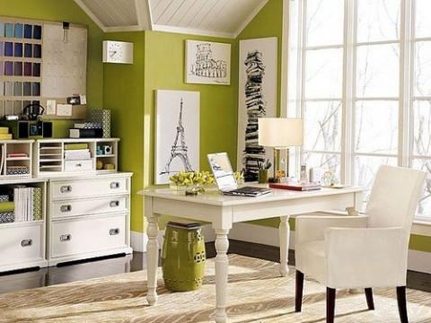 Verde pistacho para una oficina en casa02
