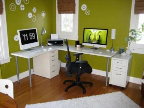 Verde pistacho para una oficina en casa05