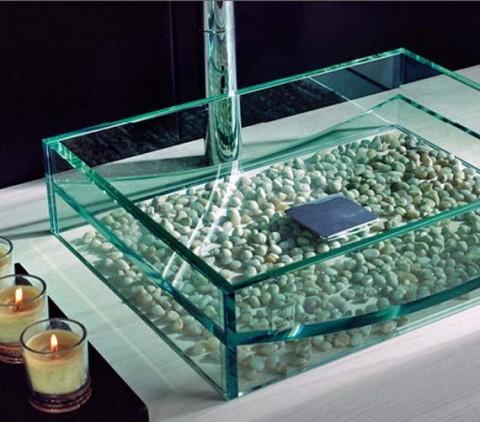 Lavabos de cristal de dise o for Opciones para decorar un cuarto