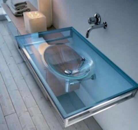 Lavabos de cristal de dise o Diseno lavabos pequenos