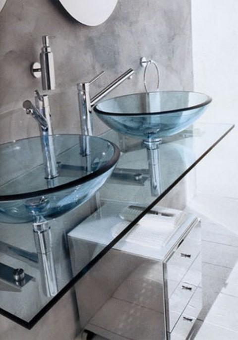 Lavabos de cristal de dise o - Lavabo de cristal ...