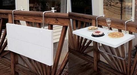 Ideas De Mesas Plegables Para Terrazas Pequeas