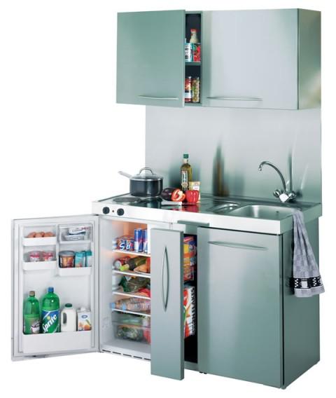 Cocinas peque as para espacios reducidos for Muebles de cocina para microondas