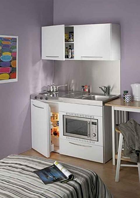 Cocinas peque as para espacios reducidos for Soluciones apartamentos pequenos