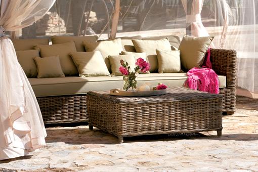 Muebles de rat n y mimbre - Muebles de mimbre para jardin ...