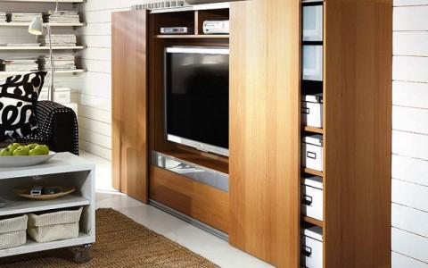 Ideas para colocar la tv for Mueble que esconde la tv