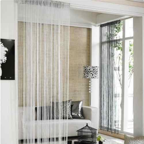 Separaci n de ambientes interiores con cortinas for Cortinas para separar ambientes