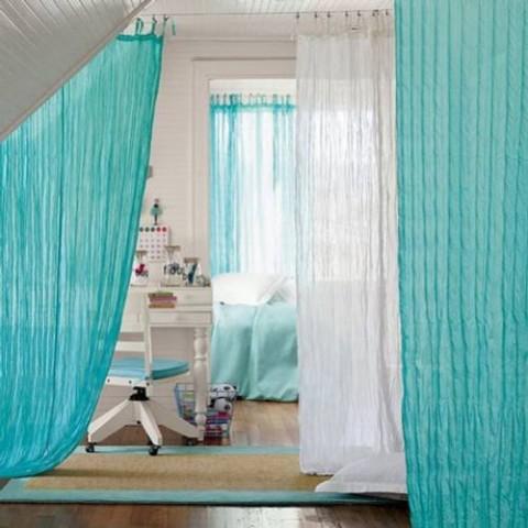 Separaci n de ambientes interiores con cortinas - Ultimas tendencias en cortinas ...