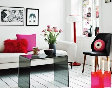 Romántica decoración en blanco y rosa 2