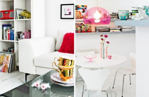 Romántica decoración en blanco y rosa 3