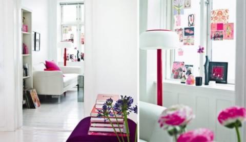 Romántica decoración en blanco y rosa 5