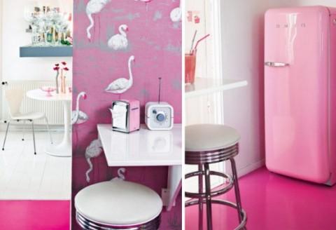 Romántica decoración en blanco y rosa 6
