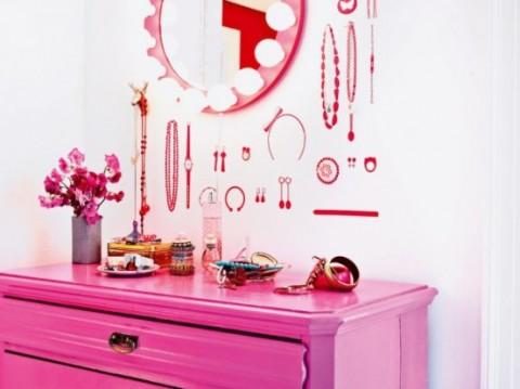 Romántica decoración en blanco y rosa 7