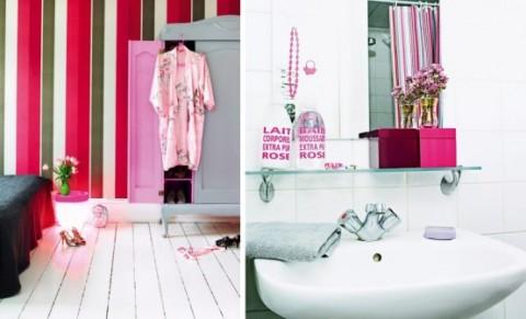 Romántica decoración en blanco y rosa 8