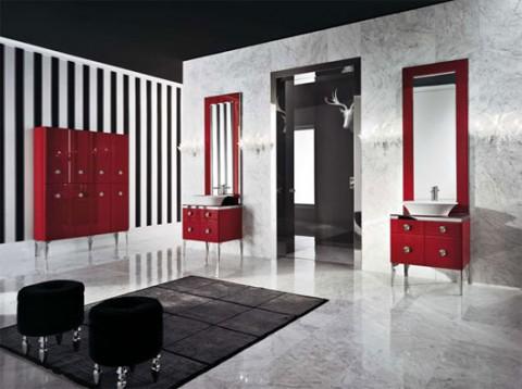 Propuestas de baños en color negro
