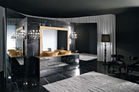 Baños en color negro 5