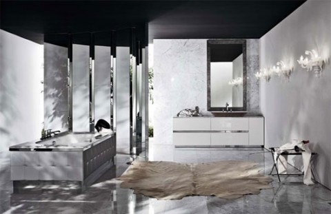 Baños en color negro 8
