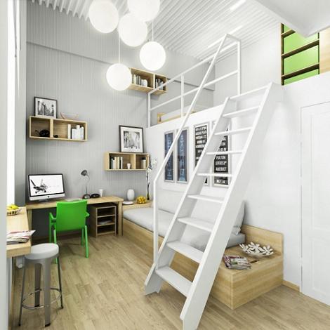 Propuestas para camas en los altillos Apartamentos con altillo