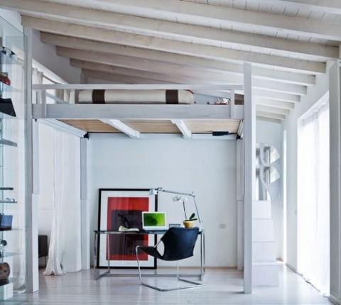 Propuestas para camas en los altillos - Como hacer un altillo de madera ...