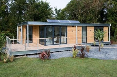 Una casas prefabricada de dise o ecol gico - Casas rurales prefabricadas ...