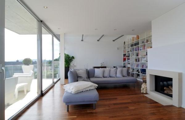 Una casas suiza con un estilo encantador