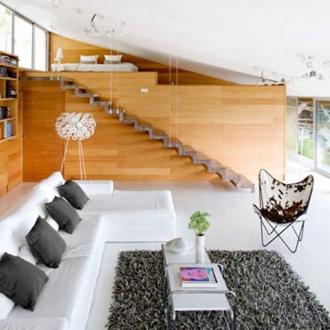 una casa de estilo zen y con madera