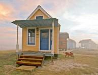 imagen Casas construidas con materiales recuperados
