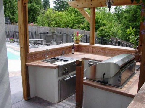 Cocinas en el exterior for Barras para exterior jardin