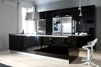 Cocinas en color negro for Cocinas modernas negras