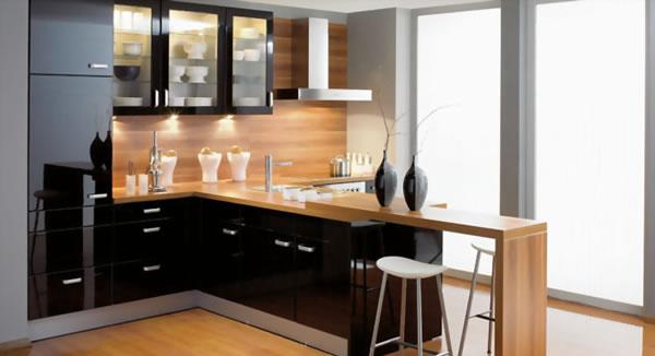 Cocinas en color negro for Muebles de cocina modernos precios