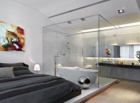 Ba os integrados en a la habitaci n for Banos abiertos a la habitacion