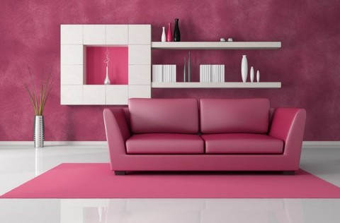 Decoración de interiores en rosa 1