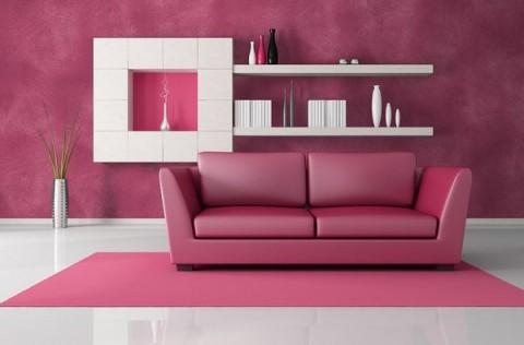 Decoración de interiores en rosa 1