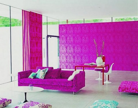 Decoración de interiores en rosa 2